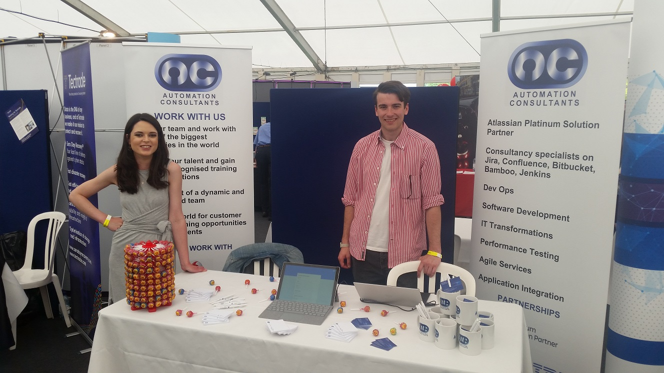 AC attend University of Surrey Career's Fair.