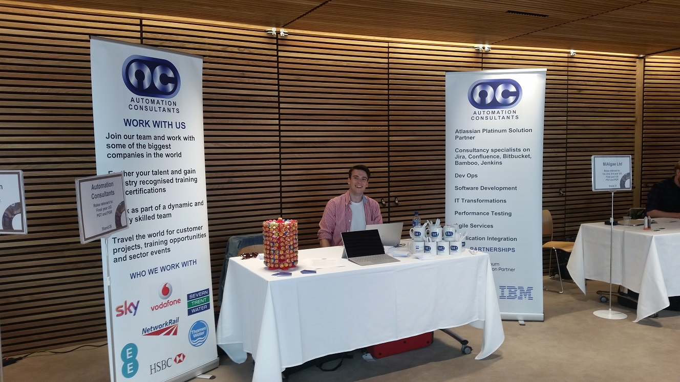 AC attend The University of Edinburgh's recruitment fair.